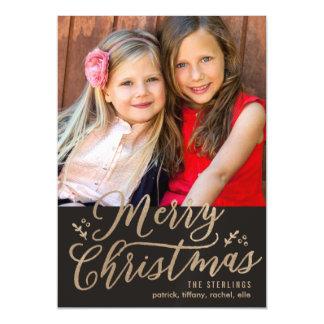 EDITABLE COLOR Merry Christmas Holiday Magnet