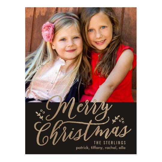 EDITABLE COLOR Merry Christmas Holiday Postcard