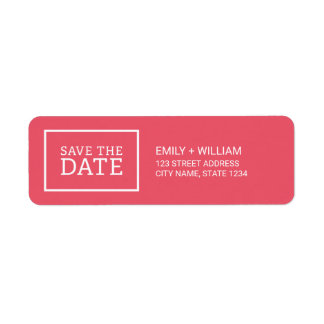 Editable Color Modern Minimalist Save the Date