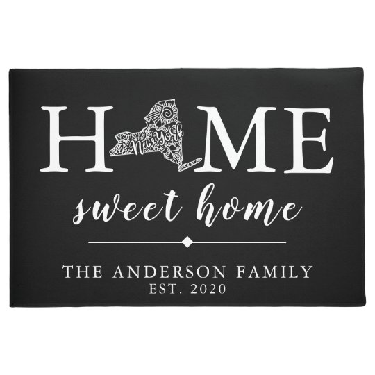 Editable Colour NEW YORK Personalised State Doormat