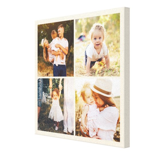 Editable Colour Photo Box Custom Wrapped Canvas