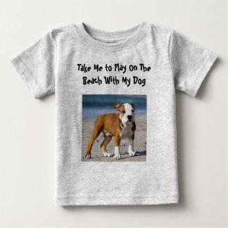 Editable Dog on the Beach Baby T-Shirt