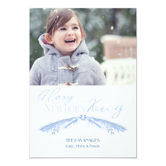 EDITABLE Elegant Blue Holiday Card