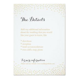 Editable faux gold glitter confetti detail card 11 cm x 16 cm invitation card