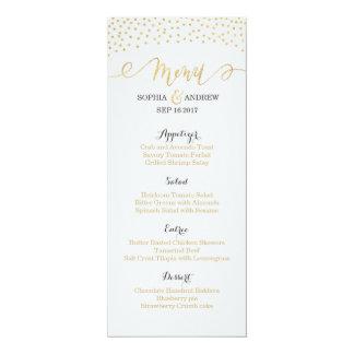 Editable Glam gold glitter vintage wedding menu Card