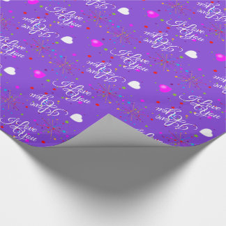 Editable I Love You on Violet (or your color) Wrapping Paper
