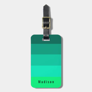 Editable Identification Bright Summer Green Hues Luggage Tag