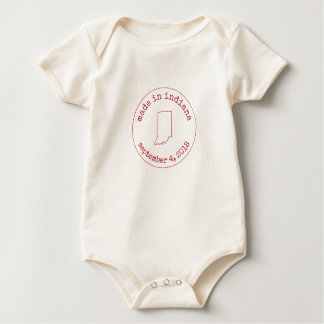 Editable Made in Indiana Stamp of Approval Baby Bodysuit