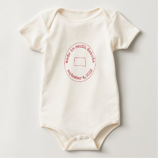 Editable Made in South Dakota Stamp of Approval Baby Bodysuit
