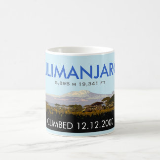 Editable Mount Kilimanjaro Climb Commemorative Coffee Mug