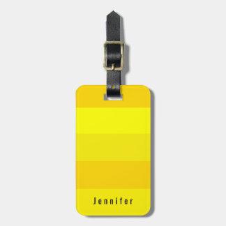 Editable Personal Bright Lemon Yellow Spring Hues Luggage Tag