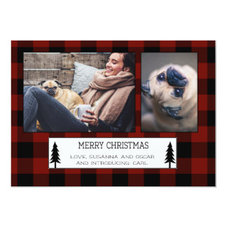 EDITABLE Plaid Holiday Card