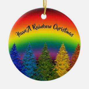 Gay Pride Rainbow Christmas Tree Decorations Ornaments Zazzle Co Uk