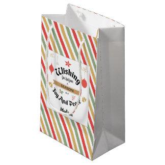 Editable Small Glossy Christmas Gift Bag