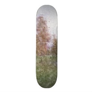 Edited forest photo custom skate board