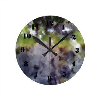 edited photo nature and sheep round clock