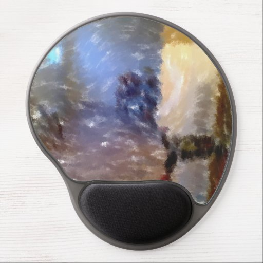edited photo of a room gel mousepads