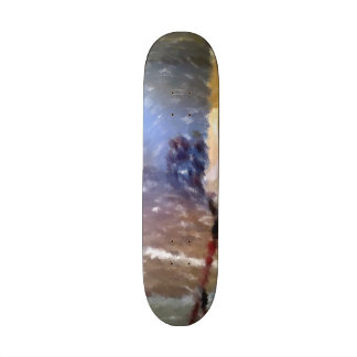 edited photo of a room skateboard