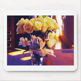 Edited version of Yellow roses and Lillies Mouse Pad