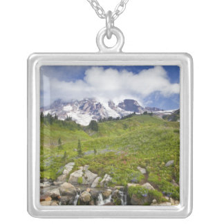 Edith Creek and wildflower meadows at Paradise Silver Plated Necklace
