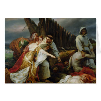 Edith Finding the Body of Harold, 1828 Greeting Card