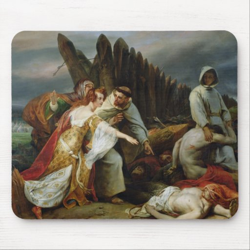 Edith Finding the Body of Harold, 1828 Mousepad