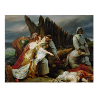 Edith Finding the Body of Harold, 1828 Postcard
