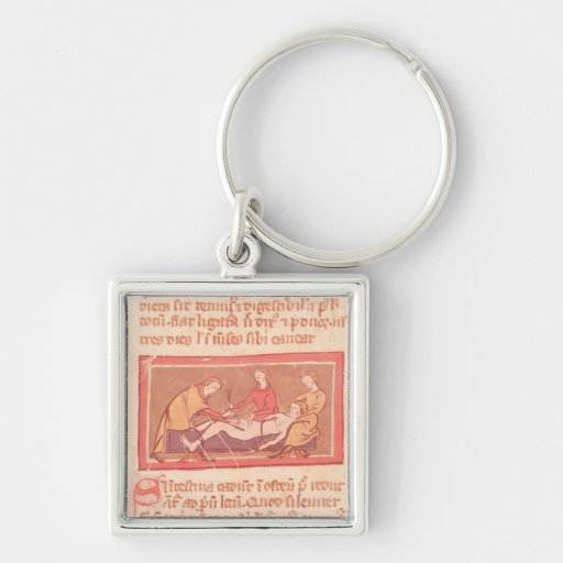 edition of 'Book of Surgery' by Rogier de Salerne Keychains