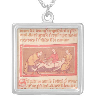 edition of 'Book of Surgery' by Rogier de Salerne Silver Plated Necklace