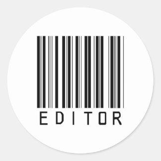 Editor Bar Code Round Sticker