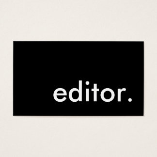 editor. business card
