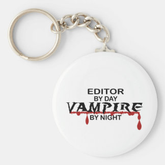 Editor by Day, Vampire by Night Basic Round Button Key Ring
