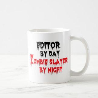 Editor by Day Zombie Slayer by Night Basic White Mug