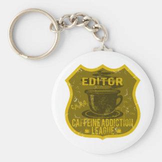 Editor Caffeine Addiction League Basic Round Button Key Ring