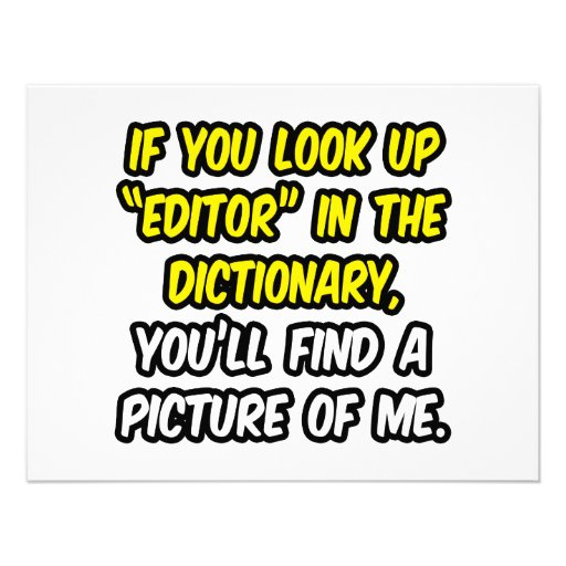 Editor In Dictionary...My Picture Custom Announcement