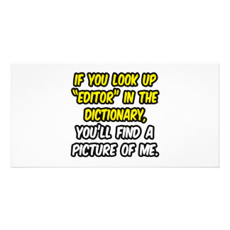 Editor In Dictionary My Picture Photo Card