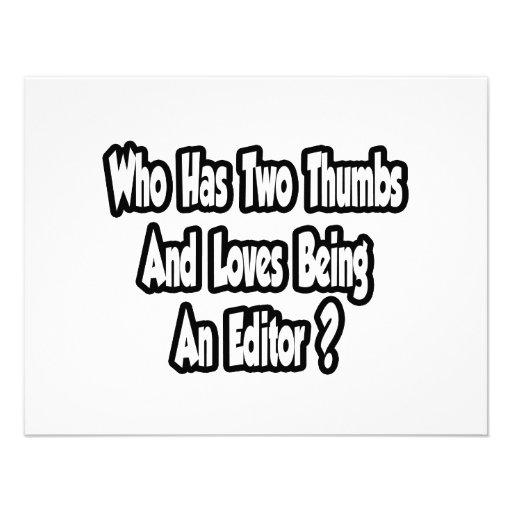 Editor Joke...Two Thumbs Invites