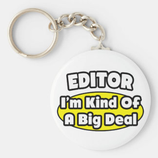 Editor = Kind of a Big Deal Basic Round Button Key Ring