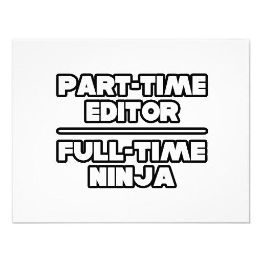 Editor...Ninja Announcement