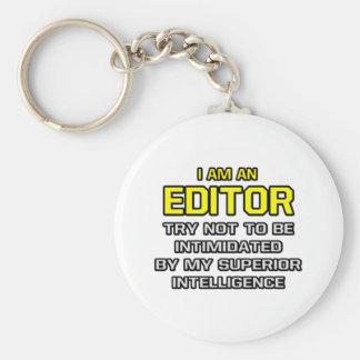 Editor...Superior Intelligence Basic Round Button Key Ring
