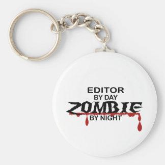 Editor Zombie Basic Round Button Key Ring