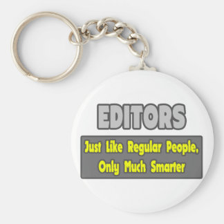 Editors...Smarter Basic Round Button Key Ring