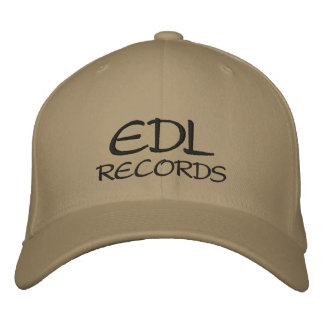 EDL , RECORDS EMBROIDERED HAT