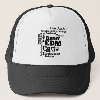 EDM Dance Party Word Cloud Trucker Hat
