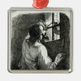 Edmond Dantes imprisoned in the Chateau d'If Christmas Ornament
