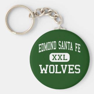 Edmond Santa Fe - Wolves - High - Edmond Oklahoma Basic Round Button Key Ring