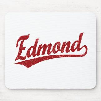 Edmond script logo in red mousepad