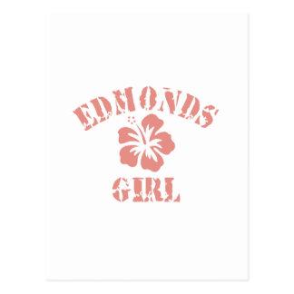 Edmonds Pink Girl Post Card