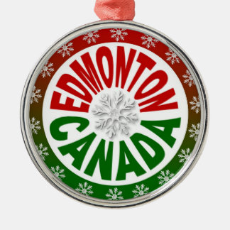 Edmonton Canada red green ornament