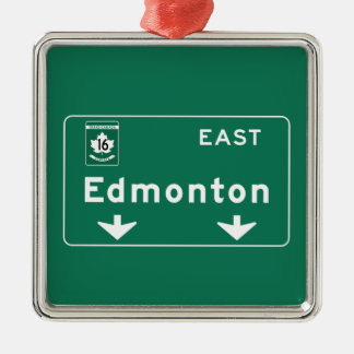 Edmonton, Canada Road Sign Christmas Ornament